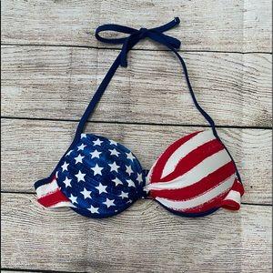 Other - american flag bikini top